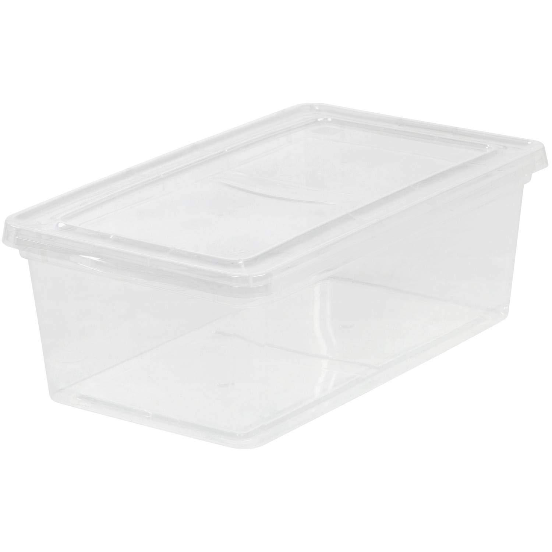 IRIS 6 Qt. Plastic Storage Box, Clear/ (12 Counts) by IRIS USA, Inc.