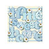 samLIKE Full Drill, Letter Sweet Home 5D Diamond Painting Kits for Adults,Decorative Crystal Rhinestone Diamond Embroidery Paintings Pictures Arts Craft (Blue)