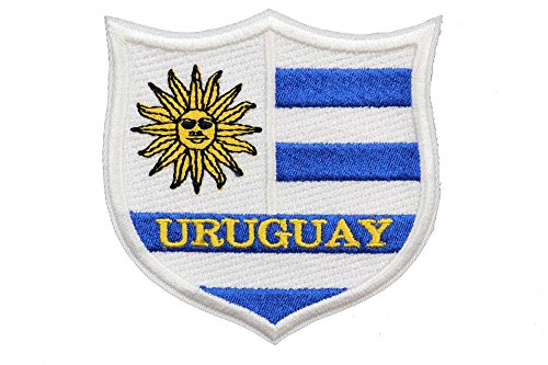 World Flags Embroidered Patch Shield (3