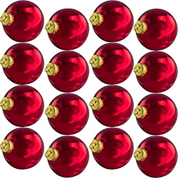 2.6in Glass Xmas Ball Ornaments With Wire Hook Hangers 16 Pack. Small  Traditional Shiny Burgundy Seamless Bulbs. Great For DIY Gifts, Crafts and  Tree ... - Amazon.com: 25 Mm Glass Multi Shiny Ball Christmas Ornaments: Home