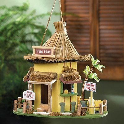 SMRT-10015970-Tiki Hut Hanging Birdhouse --P#EWT43 65234R3FA9767