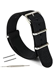 Watch Band, Nylon NATO strap - For All Watch Faces, Fitness Devices, Bezels, By United Watchbands