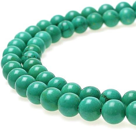collier bracelet 10 perle 8mm Naturel Pierre Turquoise creation bijoux