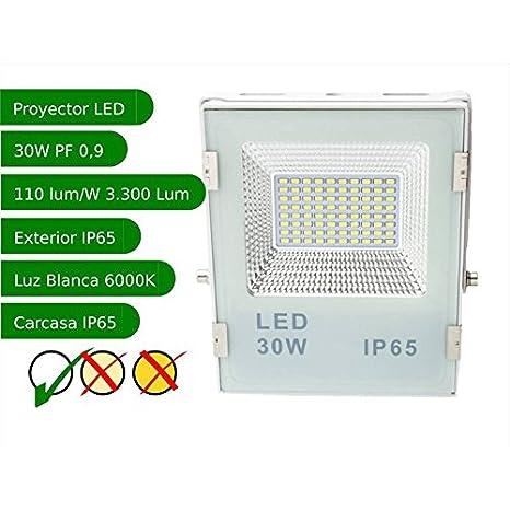 Jandei - Proyector led slim 30W exterior IP65 SMD5730 6000K ...