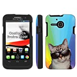 Cat Rainbow - Mobiflare Alcatel One Touch Evolve 5020T Slim Guard Armor Black Phone Case Please verify your phone model