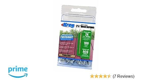 Kreg Tool Company SDK-C262W-100 2-5/8-Inch 100 CT Protec-Kote Deck Screw - Screwdriver Bits - Amazon.com