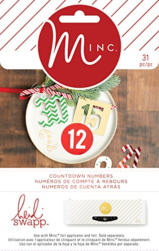 Heidi Swapp Minc Christmas 31 Piece Chipboard Numbers ()