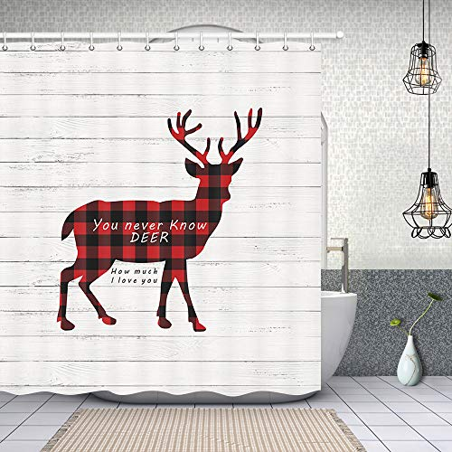10 best deer shower curtain with matching rug for 2020