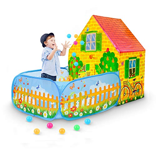 SkyNature Garden House Play Tents, Pretend Play Game Tents with Ball Pit, Pop Up & Foldable Kids Play Tents for 3-12 Years Old - Girls, Boys, Toddlers & Babies - 43