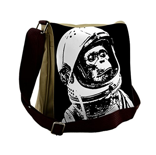 Lunarable Outer Space Messenger Bag, Chimpanzee in Costume, Unisex (Outer Space Costumes Ideas)