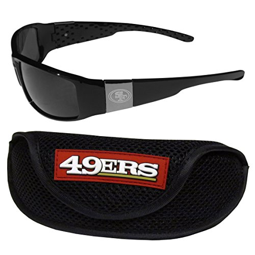 (NFL San Francisco 49Ers Chrome Wrap Sunglasses & Sports Case)