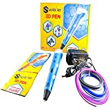 Scribbler 3D Pen V1 for Printing in the Air 3D Drawing Pen Art Tool with 3 Loops of Plastic Filament Refills in a nice Gift Box