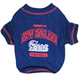 Pets First NFL New England Patriots T-Shirt, Small, My Pet Supplies
