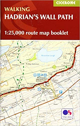 Hadrian's Wall Path Map Booklet: 1:25, 000 OS Route Mapping (Walking