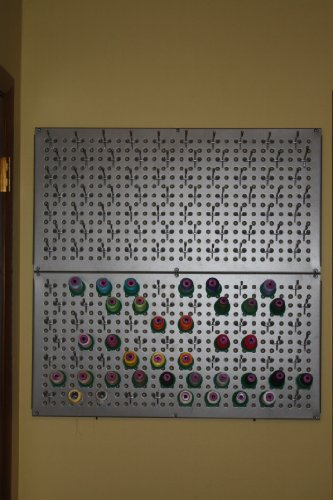 Galvanized Steel Metal Pegboard for Storage and Display, Gunmetal (2 panels Per Box) by Lindsay Manufacturing, Inc. (Image #3)