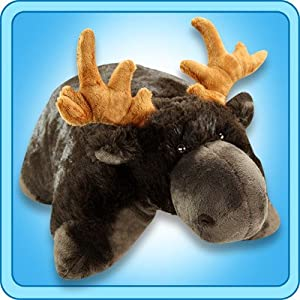 My Pillow Pet Chocolate Moose - Large (Brown) - 5170uaPYxSL - Pillow Pets Wild Moose Stuffed Animal Plush Toy 18 Inches