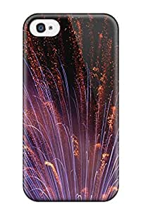 Flexible Tpu Back Case Cover For Iphone 4/4s - Fireworks Closeup by lolosakes