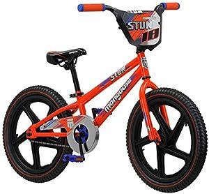 Mongoose Stun Freestyle BMX Bike for Kids, 18-Inch Wheels