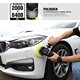 GALAX PRO Variable Speed Polisher with 2 Pcs Foam Pads for Car Sanding, Polishing, Waxing, Buffing