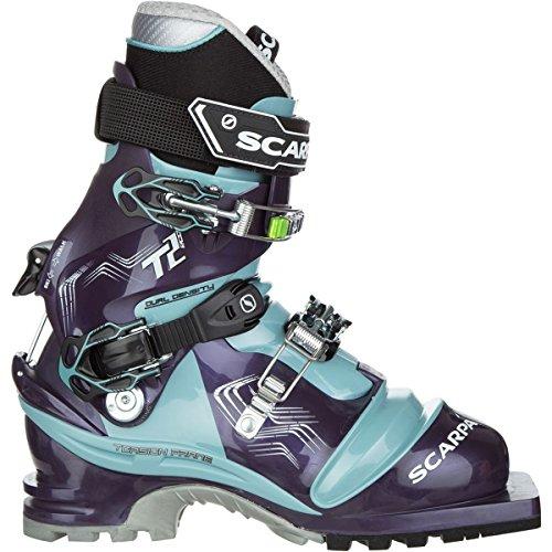 Touring Ski Scarpa Boots (Scarpa Women's T2 Eco Ski Boots Bourgogne / Polar Blue 25)