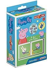 Magicube Peppa Pig Dzień z Peppą - 2 kostki - Gra konstrukcyjna z kostkami magnetycznymi