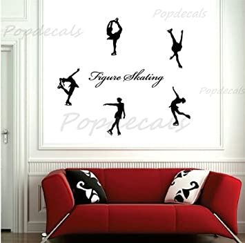 Amazon.com: Popdecals - Figure Skating - Nursery Wall Decals Tree ...