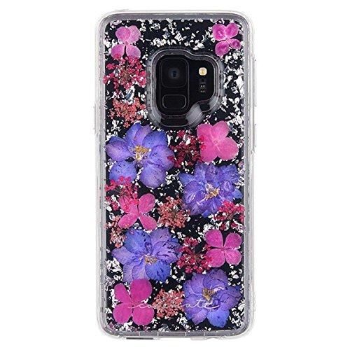 Samsung Galaxy S9 Case,Galaxy S9+ Case, MAGGICWEI-DL - KARAT PETALS - Made with Real Flowers - Slim Protective Design - Samsung Galaxy S9/S9+ (Purple Petals, S9) ()