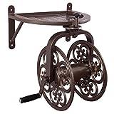 Liberty Garden 710 Navigator Rotating Garden Hose Reel, 125-Feet, Bronze