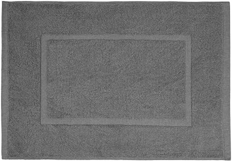 100/% algod/ón 790 g//m/² Gris valneo Alfombra de ba/ño con Borde Rectangular 50 x 70cm
