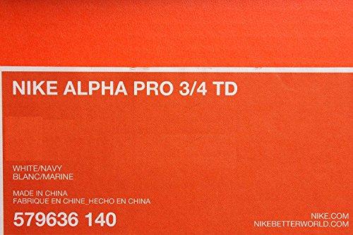 Nike Herren Alpha Pro Mid Fußballschuh Weiß / Navy