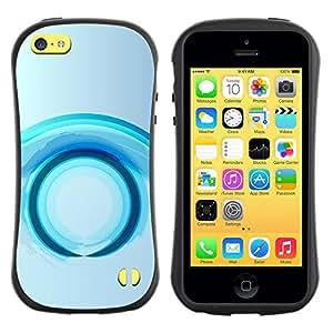 """Pulsar iFace Series Tpu silicona Carcasa Funda Case para Apple iPhone 5C , Anillo Futuro Agua Gris Gris"""""""