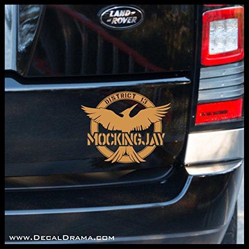 Mockingjay District 13 emblem, Hunger Games-inspired Vinyl Car/Laptop Decal -