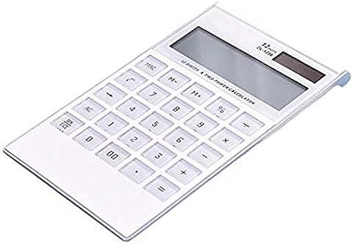 Desktop Schule Tragbarer 12-stelliger Solar-Taschenrechner mit gro/ßem Display gro/ße Tasten f/ür Studenten B/üro