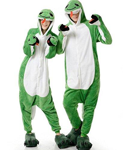 Snake Unisex (Adult Onesies Snake Costume Unisex Kigurumi Animal Cosplay Halloween Pajamas)
