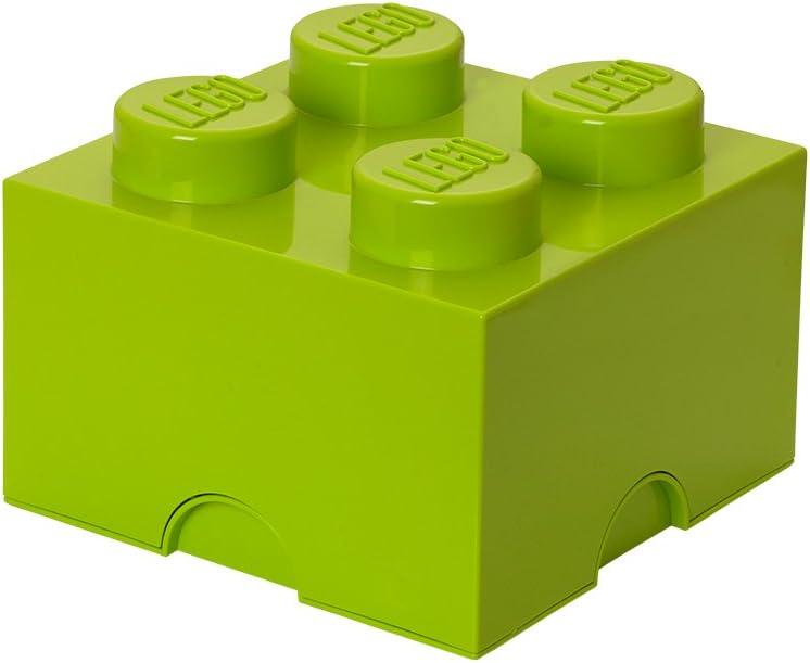 LEGO Storage Brick System Brick 4, Storage Box, Lego Box, Toy Container Box, Light Green, RC40031220