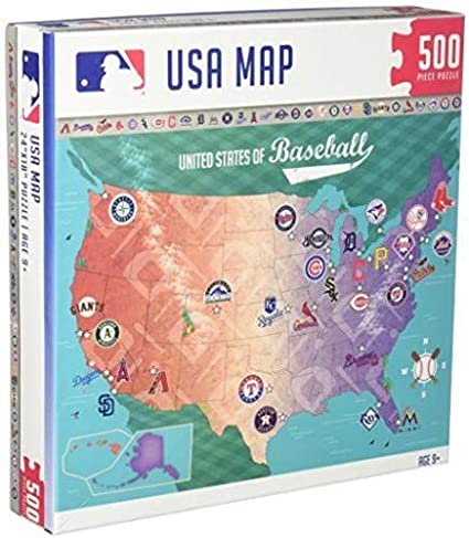 MasterPieces MLB USA Map Jigsaw Puzzle, United States of Baseball, 500  Pieces
