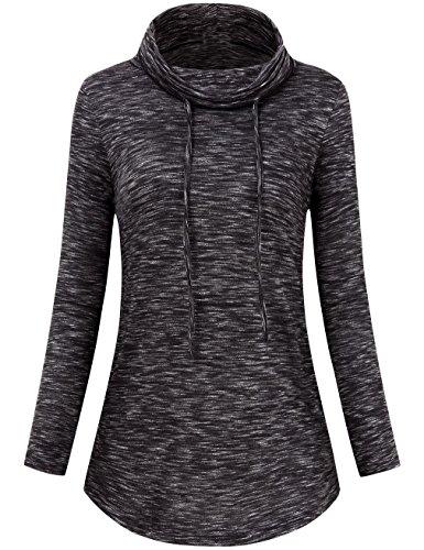 FANVOOK Lightweight Pullover, Space Dye Sweatshirts Fall Sport Tracksuit Long Sleeve Pullover BW M by FANVOOK