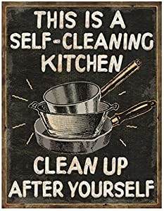 Crystal Art Sign Of The Times Self Clean Kitchen Iron 10 X 13