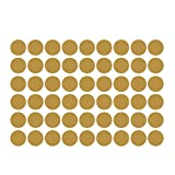 WINOMO 54 Decals Gold Dot Wall Stickers Removable Metallic Dot Decals Round Sticker for Festive Wall Decor Baby Nursery Kids Room 4cm