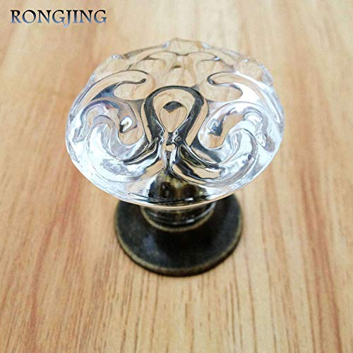 (2x Totem Clear Acrylic Kitchen Cabinet Drawer Knobs China Furniture Cupboard Dresser Handle Closet Handle Woden Shoes Box Pulls)