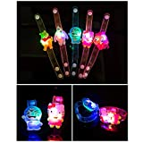 Autumn Water 10Pcs/Lot New Creative Watch Christmas Halloween Birthday Party Flash Light-Emitting Bracelet Gift Children Practical Jokes Toys