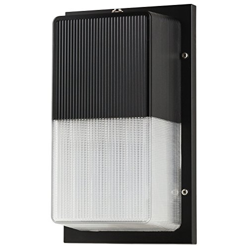 Sunlite LFX/TP/15W/50K/ES/PC 15W 120-277V LED Wall Packs Fixture with Polycarbonate Glass, Bronze Finish (Es Finish)