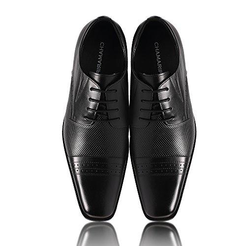 CHAMARIPA Hombres Trimestre Brogue Derby Vestido de verano Zapatos con Talones ocultos Taller 7cm - 021B02