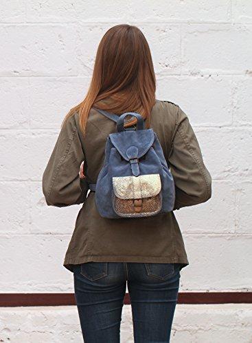suédé Rose vintage sac de cuir PAUL LE nubuck dos à Poudré BAROUDEUR petit style en MARIUS vachette SfFHq
