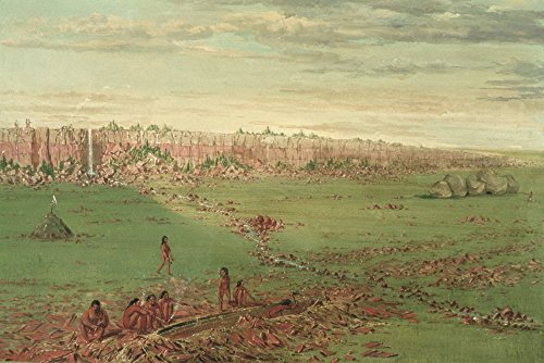 Catlin Quarry 1836 Npipestone Quarry On The Coteau Des Prairies Oil On Canvas 1836 By George Catlin Poster Print by (18 x -