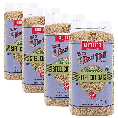 Bob's Red Mill Gluten Free Organic Steel Cut Oats, 24 Ounce, 4 Count (Red Steel Bobs Mill)