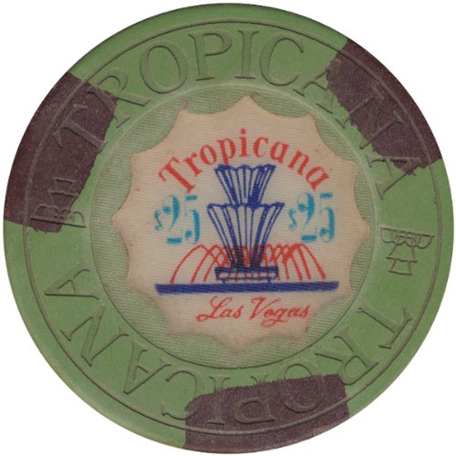 Tropicana House Mold Las Vegas Nevada $25 Casino Chip - Highly Collectible Chip
