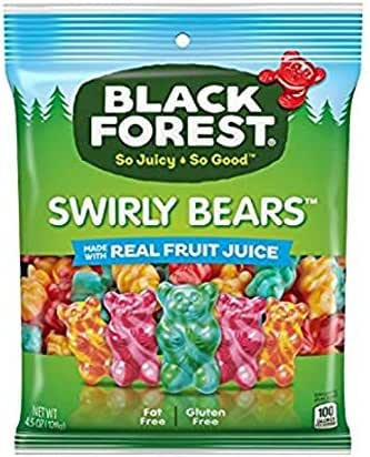 Gummy Candies: Black Forest Swirly Bears