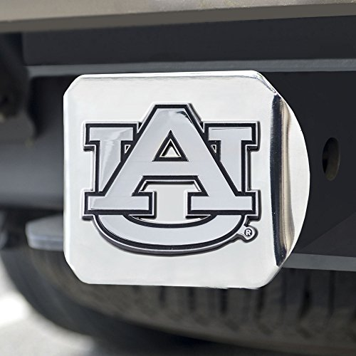 FANMATS NCAA Auburn University Tigers Chrome Hitch - Auburn Tigers Merchandise
