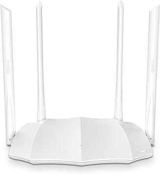 Tenda AC1200 - Router WLAN de Doble Banda AC5 V3.0 (867 Mbit/s 5 GHz + 300 Mbit/s 2,4 GHz, protección Infantil, IPV6, Red de Invitados, 4 Antenas ...